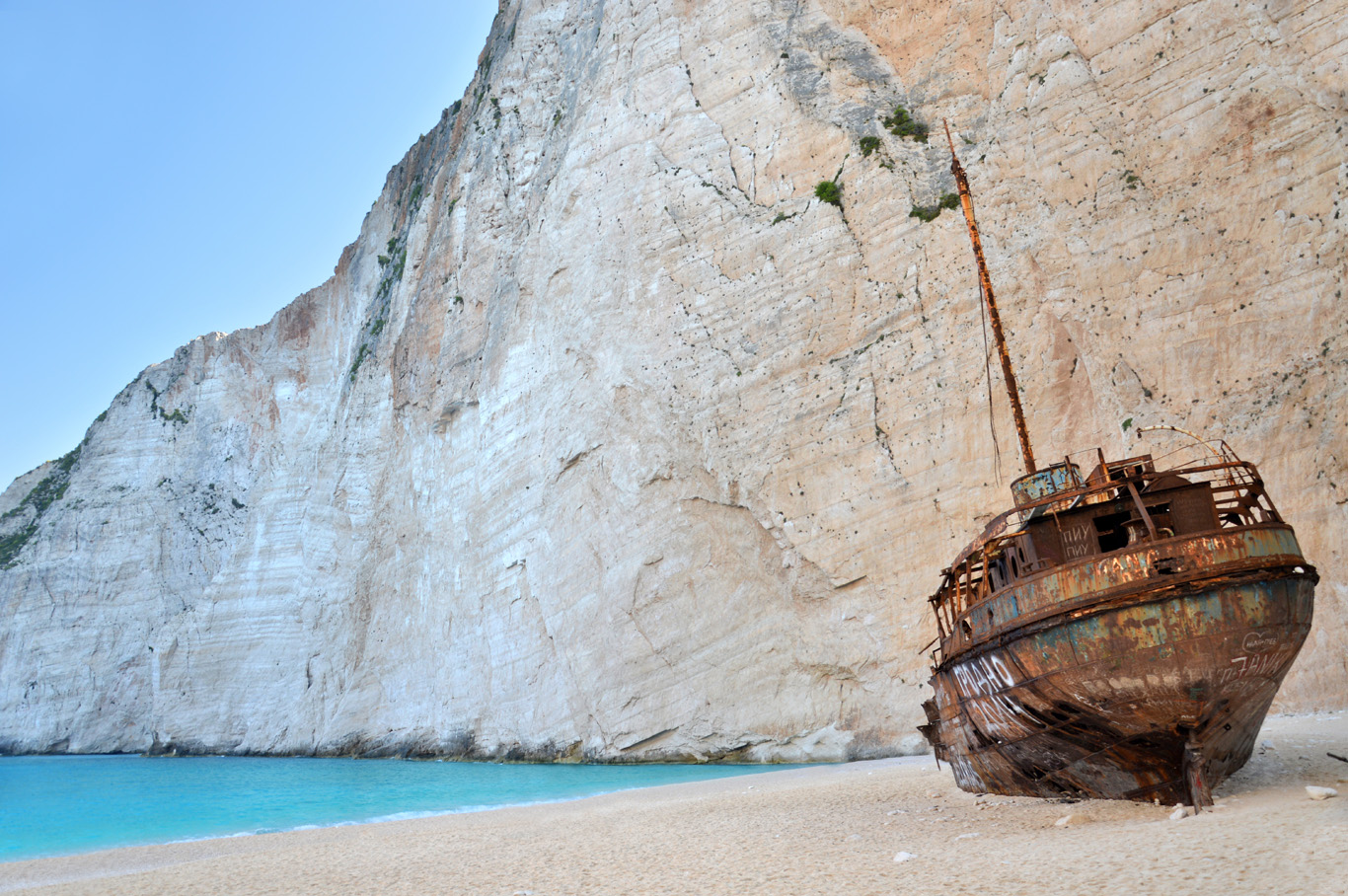 Zakynthos Shipwreck in Greece